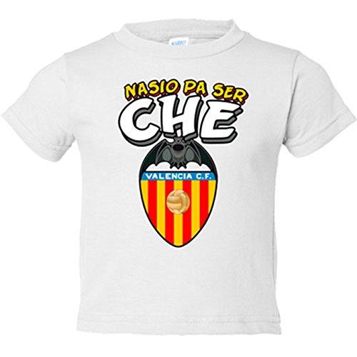 Camiseta niño nacido para ser che Valencia CF - Blanco, 18-24 meses
