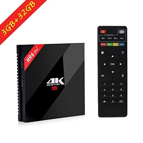 [3GB/32GB/4K]H96 Pro Plus Android 6.0 TV Box, Amlogic S912 64bit Octa-core 4K Ultra HD Smart TV Box ,Apoyo 2.4G/5G Dual Wifi 1000M LAN Ethernet Bluetooth 3D Watch