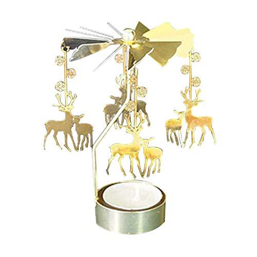 Mitlfuny➤Black Friday & Cyber Monday -80%➤Hot Spinning Rotary Metall Karussell Teelicht Kerzenhalter Stand Licht (Black Rose Fairy Kostüm)