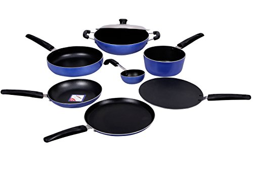 KG Star Non-Stick Cookware Combo 8Pcs (Blue)