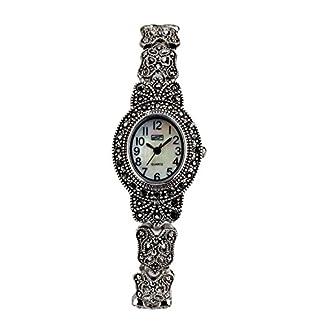 Eton señoras reloj, esfera, RP, ovalado marcasita, acabado antiguo–3182l
