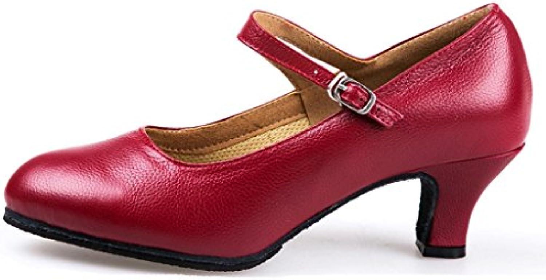 Byjia Ladies Carattere Stage Heel Dance scarpe Tutte Le Misure donna Ballroom Mary Jane Latin Tango Salsa Dancewear... | Lascia che i nostri beni escano nel mondo  | Gentiluomo/Signora Scarpa