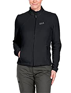 Jack Wolfskin Damen Fleece Jacke Moonrise Jacket, Black, XS, 1701781-6000001