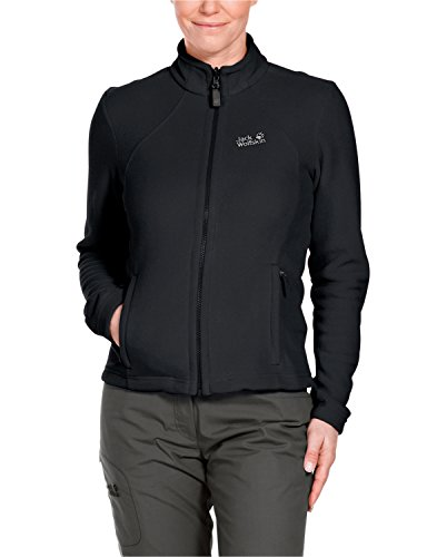 Jack Wolfskin, Giacca in pile Donna Moonrise, Nero (Black), XL