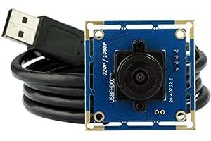 ELP Free Driver Videocamere di Sorveglianza Full HD USB Camera Module con 2.1 mm Lenti