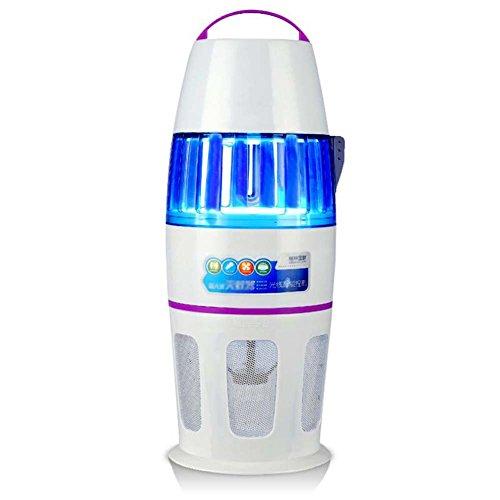 Lámpara doméstica para matar mosquitos, fotocatalizador, control de luz portátil Asesino de mosquitos ultra silencioso, Zapper error, sin radiación, sin productos químicos Asesino electrónico profesio