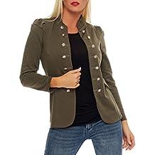 malito Military Chaqueta Blazer Chaqueta del Sudor Business 6043 Mujer