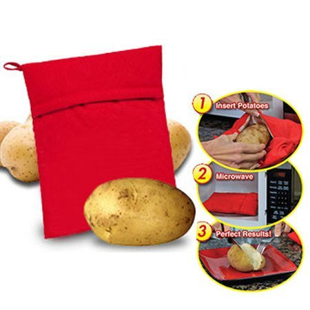Bolsa para cocinar patatas patata Hot Dog Saco Cocedora al horno a microondas cocina–Bolsa para cocinar de patatas al microondas listas de Pochi minutos cocina Express dieta.