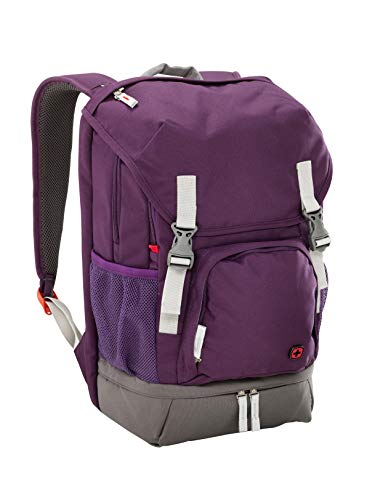 """Wenger 602659 Jetty 15,6"""" Laptop-Rucksack, gepolsterte Laptopfach mit iPad/Tablet/eReader Tasche in lila"""