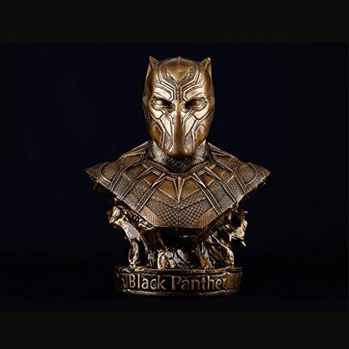 ZEQUAN Film und TV-Serie Charakter Skulptur schwarz Panther handgefertigte Spielzeug Statue kreative Geschenk Puppe Spielzeug Puppe 35 cm Spielzeugstatue (Farbe : Gold) Schwarz-gold-tv-serie