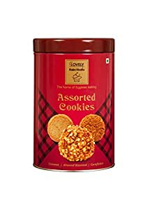 Assoerted Cookies -Coconut/Almond Roasted/Cornflakes 250 gm TIN BOX