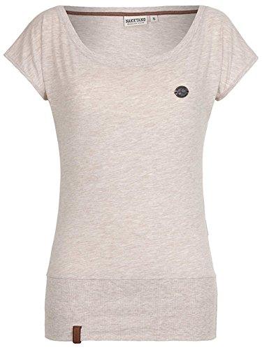 Naketano Female T-Shirt Wolle VIII nasty oma melange