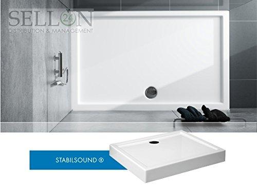 Receveur de douche 90x 100x 14Receveur de douche rectangulaire en acrylique Coffre® EPS Support Intégré acrylique Tablier stable Sound®
