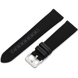 Hadley-Roma Men's MSM848RA 220 22-mm Black Genuine 'Kevlar' Watch Strap