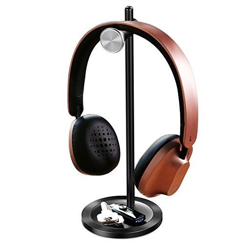 Kopfhörer Halter Baseus Over Ear Kopfhörer Ständer Headset Halterung Tisch geeignet für meistens Headset aus Aluminium + ABS Schwarz (Kopfhörer-ständer Halter)