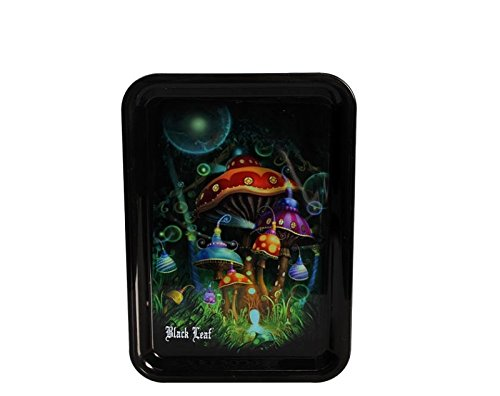 Black Leaf' Mixing Tray 'Mushroom' (Rolling Top Tray)