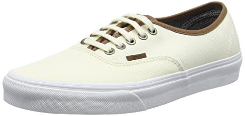 Vans Authentic, Baskets Basses Mixte Adulte Blanc Cassé (C&L classic white/true white)