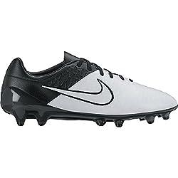 Nike Men's Magista Opus Lthr Fg Football Boots, Whiteblack (Light Bonelight Bone-blk-blk), 9.5 Uk