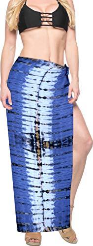 La leela tie dye spiaggia rayon coprire pareo sarong gonna a portafoglio blu_x908 78