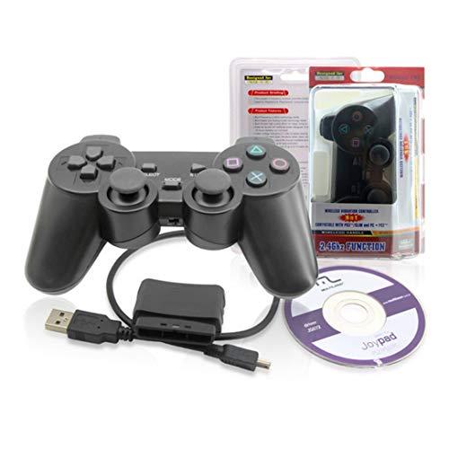 Wireless Bluetooth Gaming Controller für Joypad für PS3 / PS2 / PC3 Controller schwarz ()
