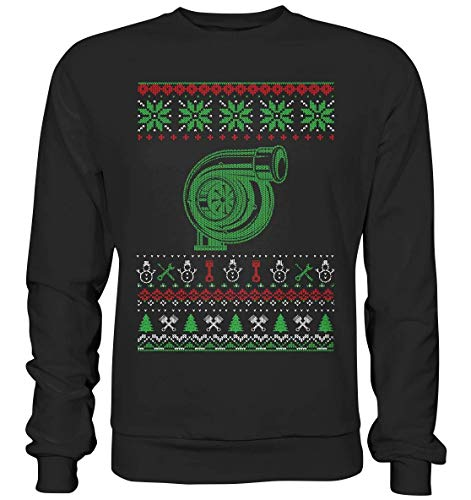 glstkrrn clothing Turbo Turbolader Boost Ugly Christmas Sweater