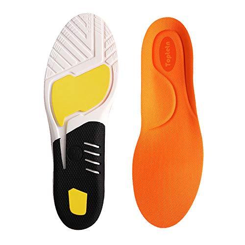 Inserti di fascite plantare, solette per scarpe ortesi per uomini e donne, sottopiedi per il comfort atletico Extra Assorbimento degli urti Solette da lavoro quotidiane Solette sportive (L:41-45)