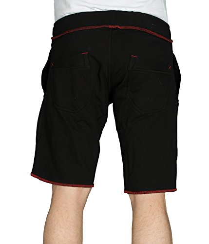 Coast betterStylz king pantalon de jogging-short-short bermuda fitness couleurs contrastées (en allemand) Noir - Noir