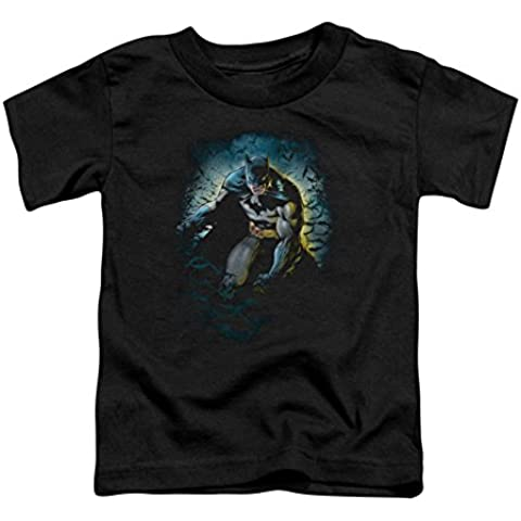 Batman - - Cueva de los Murciélagos Camiseta para niños pequeños En Negro