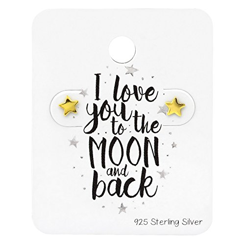 Mini Star Love You To The Moon Vergoldet Sterling Silber ()