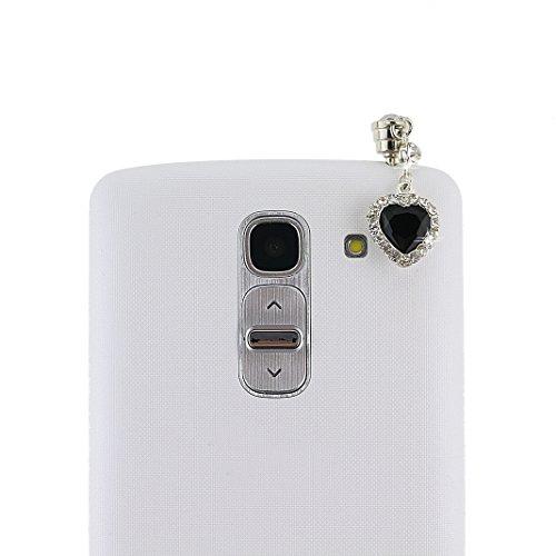 Nemo Shinning Kristall Strass Strasssteine Diamant Kirschblüten Regentropfen Anhänger Anti Dust Plug Anti Staub Stecker Staub Schutz Stöpsel Kappe Headset Earphone Buchse Klinke 3.5mm für Smartphones ,Tablet PC, HTC One, IPhone 4 /4S/ 5/5S/,Iphone 6,Iphone 6 Plus/ IPad 1 /2/ 3/ 4/ 5,Ipad mini,LG G2/LG G3, Samsung Galaxy Note 2 N7100/Note 3 N9000/Note 4 /galaxy S3 I9300, i8190, i8262D, S2 i9100, i9268, T989 ,S5830, i9000, Samsung Galaxy S4 i9500, HTC G18 Sensation XE, GALAXY Ace2, LG Nexus 4 /Nexus 5,HTC one X, HTC X920e(Butterfly),Nokia Lumia 920 928 520 720, Sony Xperia L36h/L39h/XL139H,Samsung Tab 10.1'' P7510 P7300 P6800 P6200 P3100 (Schwarz Blume Spitze Herzförmige)