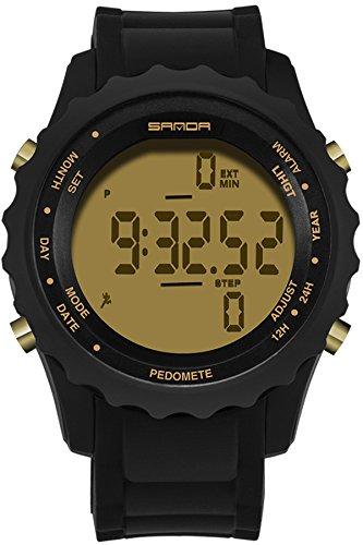 Schrittzähler Armbanduhr Herren Damen Sport Fashion Einfache Wasserdicht Stoppuhr Outdoor Digitale elektronische Uhren