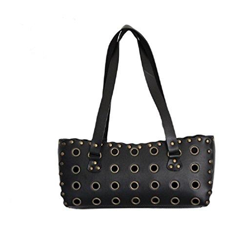 ROCKDADDY Rockige Damen Handtasche mit Nieten Rockabilly Gothic 22396-002-000
