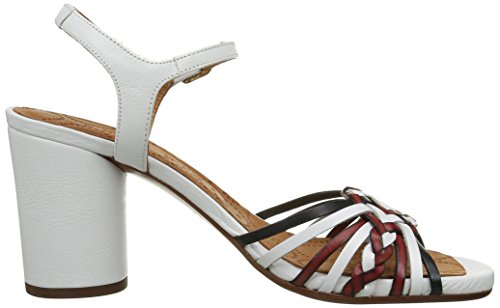 Chie Mihara Uragui, Sandales Femme Multicolore(Trenza A/Masai Blanco)