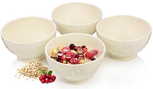 Bluespoon Schalen Set 'Country' 4 teilig aus Porzellan | Füllmenge 500 ml | Vielseitig einsetzbar als Müsli-, Dessert- oder Salatschale