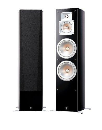 Yamaha NS 777 Stand Lautsprecher System (3-Wege Bassreflex, Waveguidehorn, 100W) klavierlackschwarz, 1 Stueck Yamaha Lautsprecher Heimkino