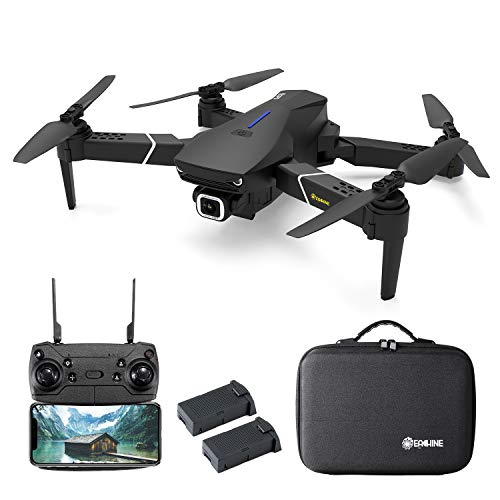 EACHINE Drone avec Camera 4k HD GPS 5G-WiFi E520S Pliable FPV avec Sac Quadcopter, De Deux 1200mAh Batteries Inclus