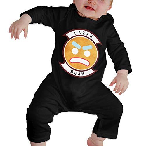 Kinder Baby Mädchen Jungen Bodys T-Shirt Lazarbeam T Shirt Shirts Für Kleinkind Mädchen Jungen Langhülse Kleidung Schwarz 6 Mt -