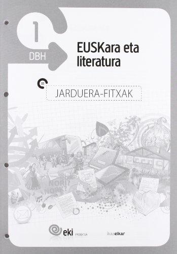 EKI DBH 1. Euskara eta Literatura 1. Jarduera fitxak (EKI 1) - 9788415586388 por Batzuen artean