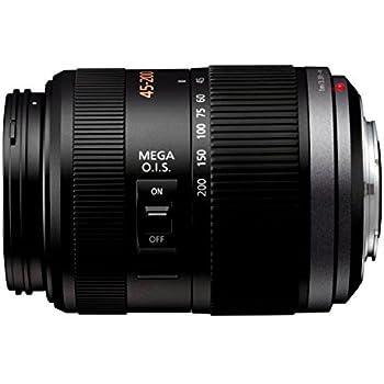Panasonic H-FS045200E Telezoom-Objektiv Lumix G F4-5,6/45-200 mm (90-400 mm KB, bildstabilisiert, 52 mm Filtergewinde) schwarz