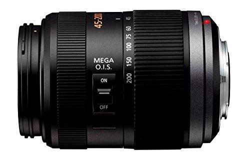 Panasonic 45-200mm f/4.0-5.6 G Vario - Objetivo para micro cuatro tercios (distancia focal 45-200mm, apertura f/4-22, zoom óptico 4x,estabilizador, diámetro: 52mm) negro