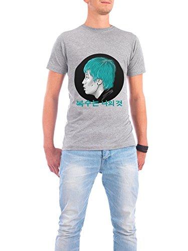 """Design T-Shirt Männer Continental Cotton """"Ryu"""" - stylisches Shirt Film Menschen von Pri Floriano Grau"""