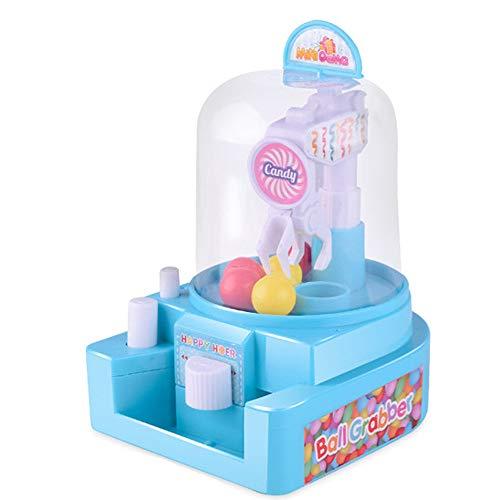 Yazidan Minipuppen Maschine Schnapp Dir Den Ball Süßigkeitenfänger Gum Crane Kinder Party Spielzeuge Rolle Abspielen Werkzeug Kit Baukasten DIY 4 Alter und So Tun als ob Haus Für Kinder(Blau)