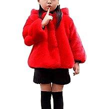 es Rojo Negro Pelo Abrigo Amazon De 8wq4YYd