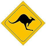 Autocollant Michael & Rene Barmstedt pour voiture et moto kangourou Australie Résistant à l'eau 8,4 x 8,4 cm