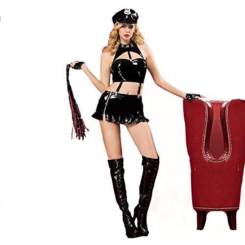 HJG Polizei Kostüm für Frauen, Offizier Uniform Stellvertretender Halloween Maskerade Rollenspiele Kostüme, Bachelorette Party Spiele