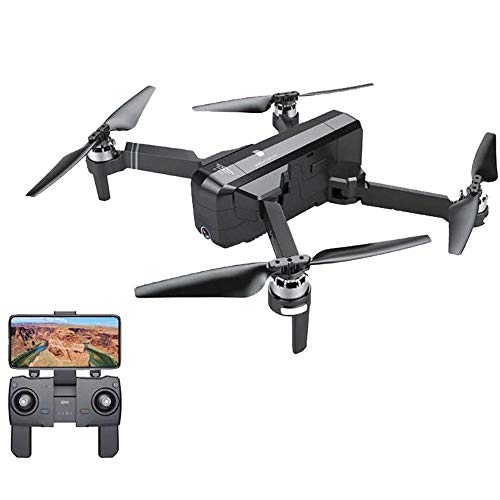 prevently Faltbare RC Quadcopter SJRC F11 Vier Achsen Flugzeuge GPS G WiFi FPV 1080P HD Cam Luftaufnahmen Fernbedienung Drohne Kind (Black)