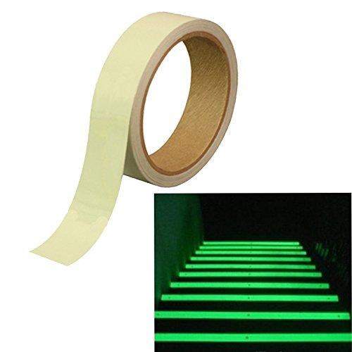 Dondo cinta de fósforo fluorescente marcado etapa banda luminosa cinta necesita brillan en la oscuridad de 25 mm x 10 metros