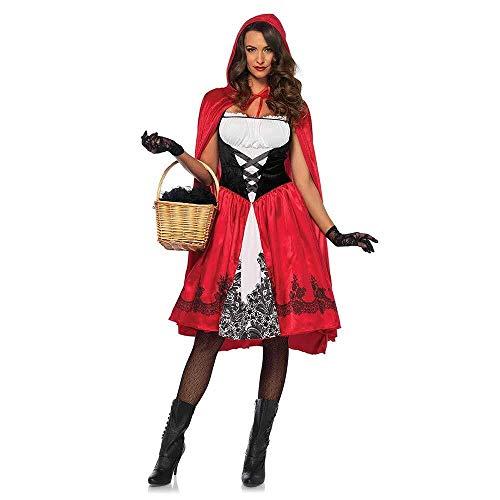 Hcxbb-b Costume Sexy da Cappuccetto Rosso, Cosplay di Halloween Cosplay Avenue Costume da Ballo Classico da Donna con Cappuccio da Equitazione Rosso (Size : XXXL)