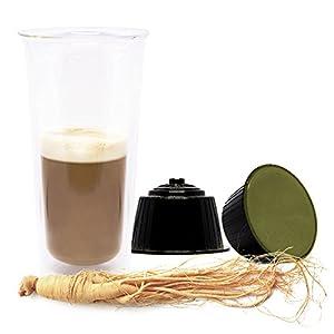 GINSENG Lovespresso - 48 Capsule di caffè solubile qualità GINSENG in capsule Compatibili NESCAFE' DOLCE GUSTO®
