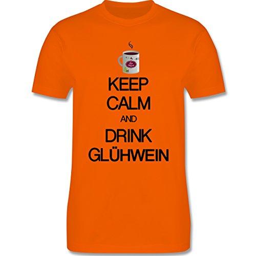 Keep calm - Keep calm and drink Glühwein - Herren Premium T-Shirt Orange